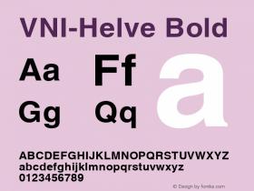VNI-Helve Bold 1.0 Sun Apr 25 16:32:06 1993 Font Sample
