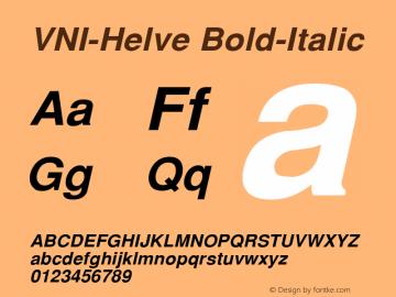 VNI-Helve Bold-Italic 1.0 Sun Apr 25 16:33:11 1993 Font Sample