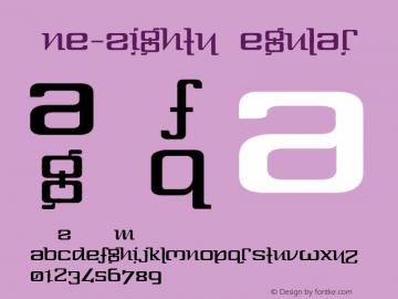 One-Eighty Regular Version 1.0; January 30, 2000 Font Sample