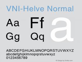 VNI-Helve Normal 1.0 Sun Apr 25 16:36:43 1993 Font Sample
