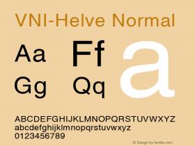 VNI-Helve Normal 1.0 Tue Jan 18 17:48:03 1994 Font Sample