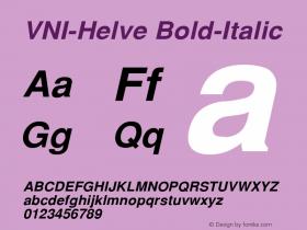 VNI-Helve Bold-Italic 1.0 Tue Jan 18 17:45:22 1994 Font Sample