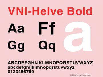 VNI-Helve Bold 1.0 Tue Jan 18 17:44:38 1994 Font Sample