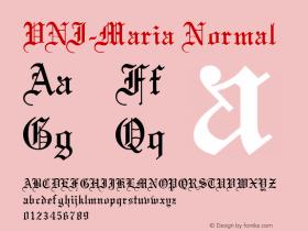 VNI-Maria Normal 1.0 Sun Apr 25 16:37:43 1993 Font Sample
