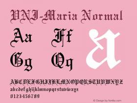 VNI-Maria Normal 1.0 Tue Jan 18 17:48:38 1994 Font Sample