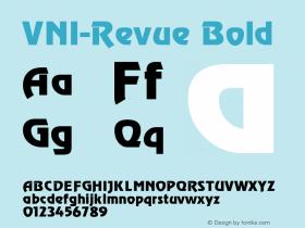 VNI-Revue Bold 1.0 Sun Apr 25 16:43:32 1993 Font Sample