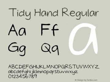 Tidy Hand Regular Version 1.00 February 10, 2010图片样张