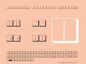 Blockman-outlined Regular Version 1.000图片样张