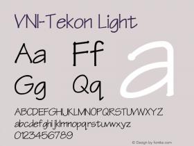 VNI-Tekon Light 1.0 Sun Apr 25 16:54:41 1993 Font Sample