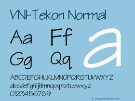 VNI-Tekon Normal 1.0 Mon Nov 29 13:26:59 1993 Font Sample