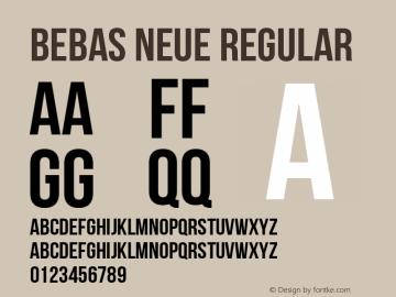 Bebas Neue Regular Version 1.400 Font Sample