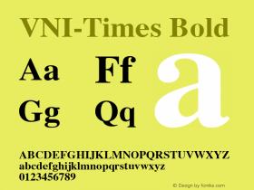 VNI-Times Bold 1.0 Sun Apr 25 17:02:49 1993 Font Sample
