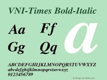 VNI-Times Bold-Italic 1.0 Sun Apr 25 17:03:50 1993 Font Sample
