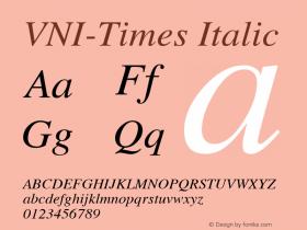 VNI-Times Italic 1.0 Sun Apr 25 17:04:54 1993图片样张