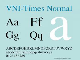 VNI-Times Normal 1.0 Sat Jan 30 10:56:59 1993 Font Sample