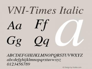 VNI-Times Italic 1.0 Mon Nov 29 13:31:28 1993 Font Sample
