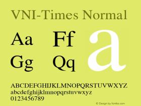 VNI-Times Normal 1.0 Tue Apr 20 17:44:27 1993图片样张