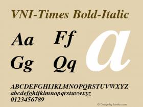VNI-Times Bold-Italic 1.0 Mon Nov 29 13:29:54 1993图片样张