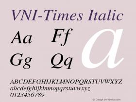 VNI-Times Italic 1.0 Mon Nov 29 13:31:28 1993图片样张