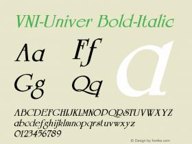VNI-Univer Bold-Italic 1.0 Fri Feb 10 15:13:47 1995 Font Sample