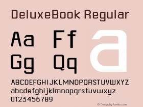 DeluxeBook Regular Altsys Metamorphosis:4/30/93 Font Sample
