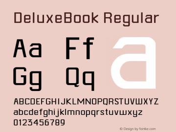 DeluxeBook Regular Altsys Metamorphosis:4/30/93 Font Sample