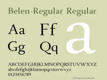 Belen-Regular Regular Version 001.000图片样张