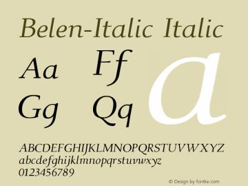 Belen-Italic Italic Version 001.000图片样张