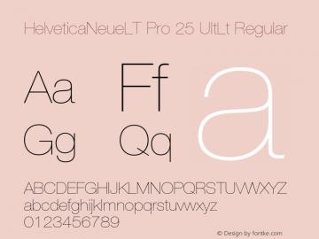HelveticaNeueLT Pro 25 UltLt Regular Version 1.000;PS 001.000;Core 1.0.38图片样张