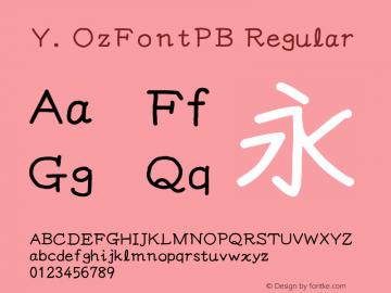 Y.OzFontPB Regular Version 6.17图片样张