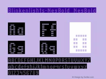 Blinkenlights-NegBold NegBold Version 1.00图片样张