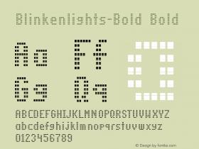 Blinkenlights-Bold Bold Version 1.00图片样张