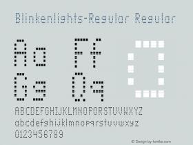 Blinkenlights-Regular Regular Version 1.00图片样张