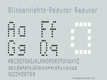 Blinkenlights-Regular Regular Version 1.00图片样张
