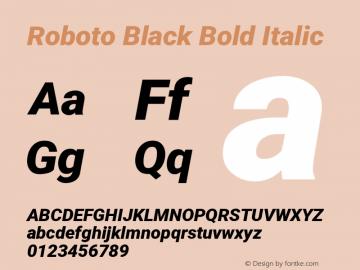 Roboto Black Bold Italic Version 2.01404; 2016图片样张