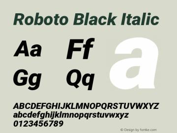 Roboto Black Italic Version 2.132图片样张