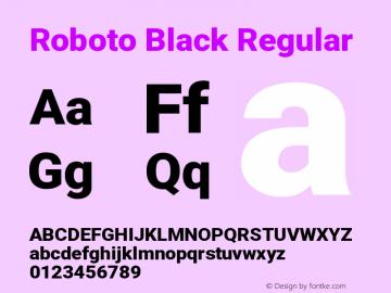 Roboto Black Regular Version 2.132图片样张