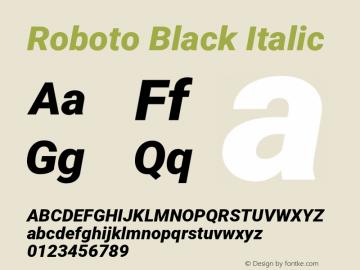Roboto Black Italic Version 2.001047; 2015图片样张
