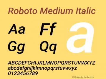 Roboto Medium Italic Version 2.01404; 2016图片样张