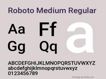 Roboto Medium Regular Version 2.01404; 2016图片样张