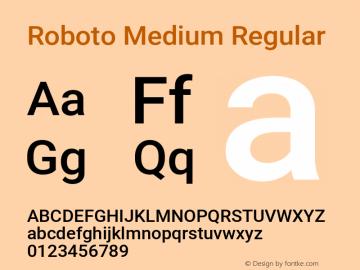 Roboto Medium Regular Version 2.001047; 2015图片样张