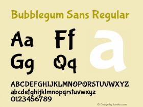 Bubblegum Sans Regular Version 1.001图片样张