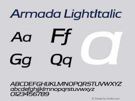 Armada LightItalic Version 1.0图片样张