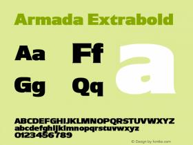 Armada Extrabold Version 001.001图片样张