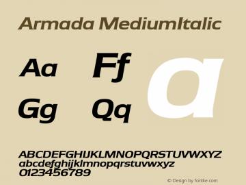 Armada MediumItalic Version 1.0图片样张