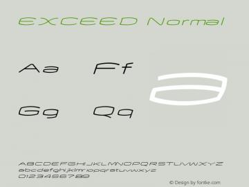 EXCEED Normal Macromedia Fontographer 4.1J 06.7.18图片样张
