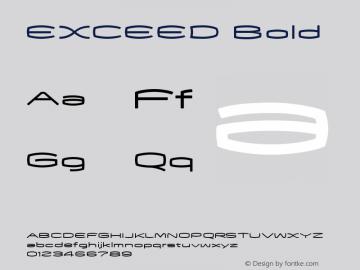 EXCEED Bold Macromedia Fontographer 4.1J 06.7.18图片样张