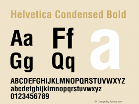 Helvetica Condensed Bold 1.0图片样张