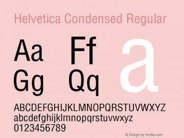 Helvetica Condensed Regular 1.0图片样张