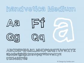 handvetica Medium Version 001.000图片样张